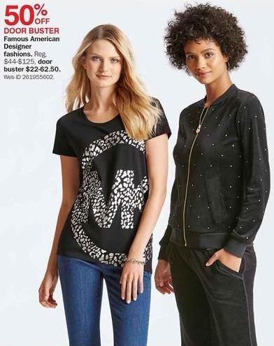 Bon-Ton Black Friday: Famous American Designer Fashions - 50% Off