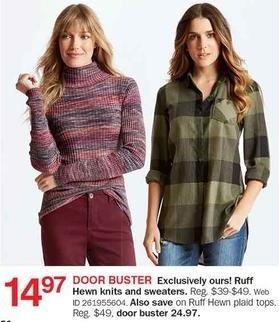Bon-Ton Black Friday: Ruff Hewn Knits & Sweaters for $14.97