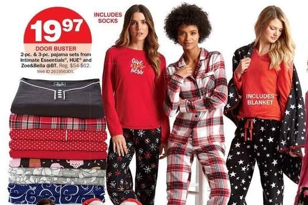 Bon-Ton Black Friday: Intimate Essentials, HUE and Zoe&Bella @BT 2-pc. & 3-pc. Women's Pajama Sets for $19.97