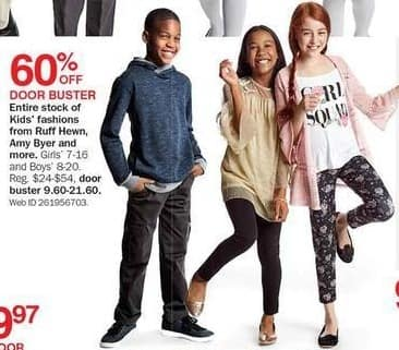 Bon-Ton Black Friday: Ruff Hewn, Amy Byer and More Kids Fashions - 60% Off