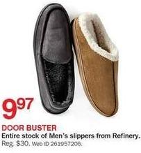 Bon-Ton Black Friday: Refinery Men's Slippers for $9.97