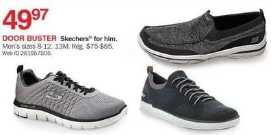 Bon-Ton Black Friday: Skechers Men's Shoes, Assorted Styles for $49.97