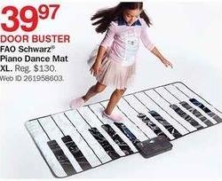 Bon-Ton Black Friday: FAO  Schwarz Piano Dance Mat XL for $39.97