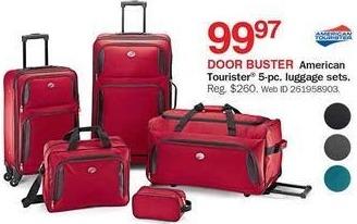Bon-Ton Black Friday: American Tourister 5-pc. Luggage Set for $99.97
