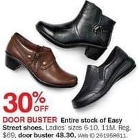 Bon-Ton Black Friday: Easy Street Ladies' Shoes, Assorted Styles - 30% Off