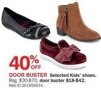 Bon-Ton Black Friday: Selected Styles Kids' Shoes - 40% Off