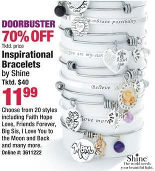 Boscov's Black Friday: Shine Inspirational Bracelets, Faith Hope Love, Friends Forever, Big Sis and More for $11.99