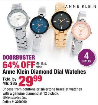 Boscov's Black Friday: Anne Klein Diamond Dial Watches for $29.99