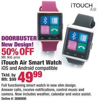 Boscov's Black Friday: iTouch Air Smart Watch for $49.99