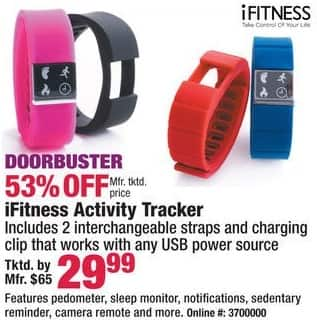 Boscov's Black Friday: iFitness Activity Tracker, Assorted Colors for $29.99