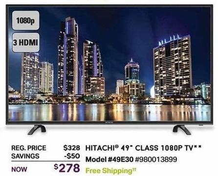 "Sam's Club Black Friday: 49"" Hitachi 49E30 1080p TV for $278.00"