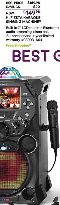 Sam's Club Black Friday: Singing Machine SDL9039 Fiesta Karaoke Machine for $149.98