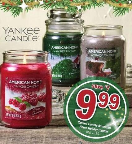 Meijer Black Friday: Yankee Candle American Home Holiday Candle for $9.99