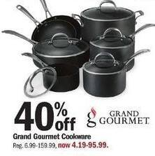 Meijer Black Friday: Grand Gourmet Cookware - 40% Off