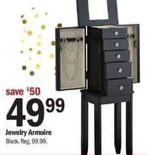 Meijer Black Friday: Jewelry Armoire for $49.99