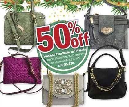 Meijer Black Friday: Select Women's Handbags and Wallets - 50% Off