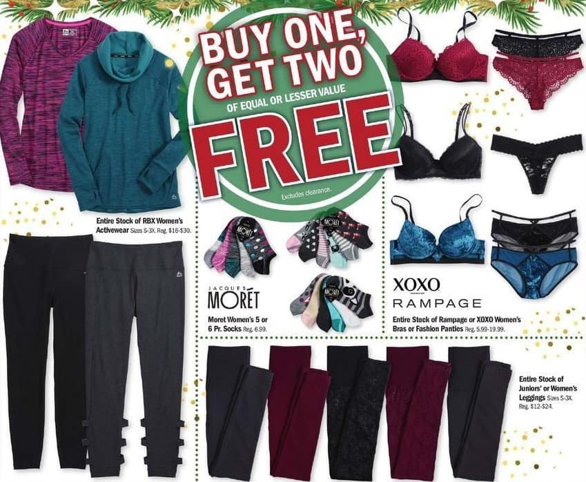 Meijer Black Friday: Rampage or XOXO Women's Bras or Panties - B1G2 Free