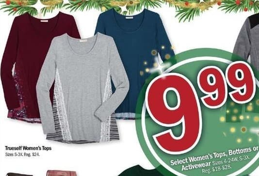 Meijer Black Friday: Truesell Women's Tops for $9.99