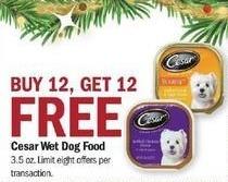Meijer Black Friday: Cesar Wet Dog Food - B12G12 Free