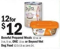 Meijer Black Friday: Beneful Prepared Meals or Beyond Wet Dog Food - 12 for $12