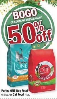 Meijer Black Friday: Purina One Dog or Cat Dry Food - B1G1 50% Off