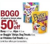 Meijer Black Friday: Busy, Alpo, Beggin' Strips Dog or Friskies Cat Treats - B1G1 50% Off
