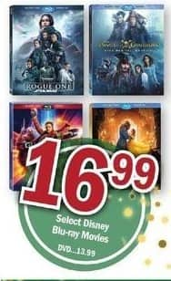Meijer Black Friday: Select Disney Blu-ray Movies for $16.99