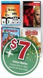 Meijer Black Friday: Select DVD Movies for $7.00