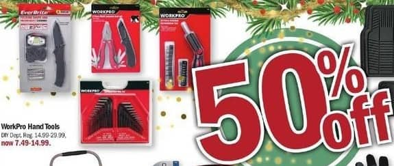 Meijer Black Friday: WorkPro Hand Tools - 50% Off