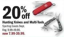 Meijer Black Friday: Hunting Knives and Multi-Tools - 20% off