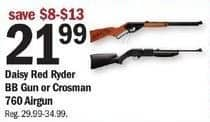 Meijer Black Friday: Daisy Red Ryder or Crosman 760 Alrgun BB Gun for $21.99