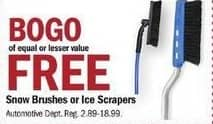Meijer Black Friday: Snow Brushes or Ice Scrapers - B1G1 Free