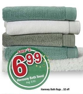 Meijer Black Friday: Harmony Bath Towel for $6.99