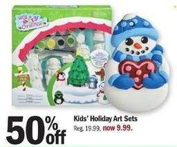 Meijer Black Friday: Kids' Holiday Art Sets - 50% Off
