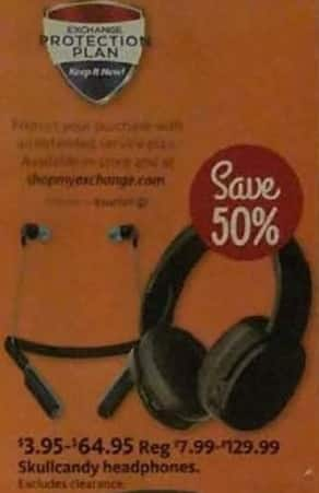 AAFES Black Friday: Skullcandy Headphones for $3.95 - $64.95