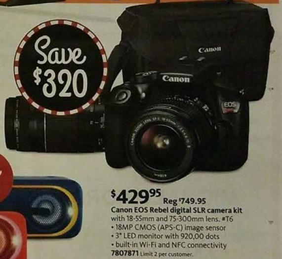 AAFES Black Friday: Canon EOS Rebel Digital SLR Camera Kit for $429.95