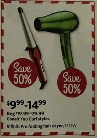 AAFES Black Friday: Conair You Curl Styler or Infiniti Pro Folding Hair Dryer for $9.99 - $14.99