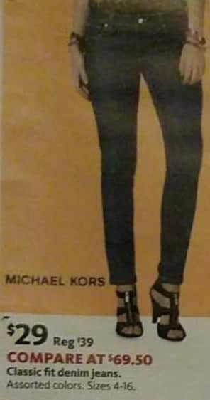 AAFES Black Friday: Michael Kors Women's Classic Fit Denim Jeans for $29.00