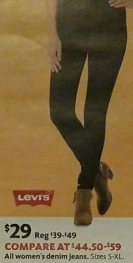 AAFES Black Friday: Levi's Women's Denim Jeans for $29.00