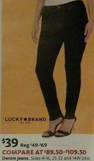 AAFES Black Friday: Lucky Brand Women's Denim Jeans for $39.00