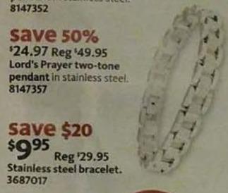 AAFES Black Friday: Stainless Steel Bracelet for $9.95