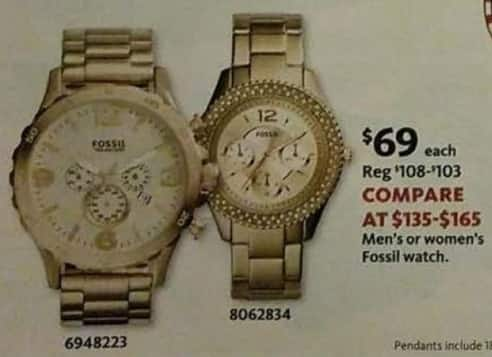 AAFES Black Friday: Fossil Men's or Women's Watch for $69.00