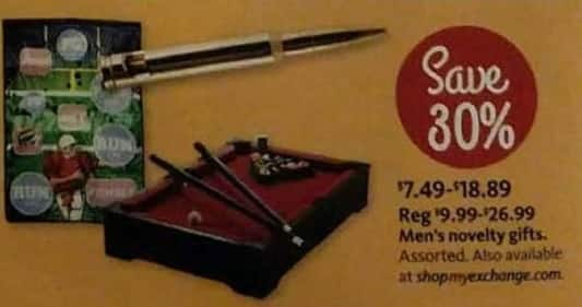 AAFES Black Friday: Assorted Men's Novelty Gifts for $7.49 - $18.89