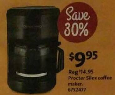 AAFES Black Friday: Procter Silex Coffee Maker for $9.95