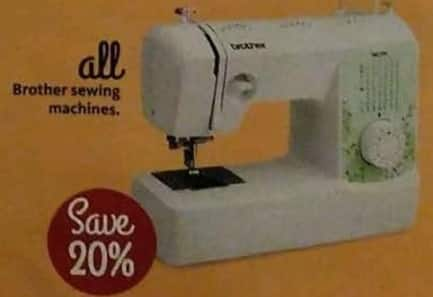 AAFES Black Friday: Brother Sewing Machines - Save 20%