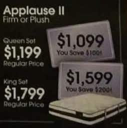 AAFES Black Friday: Serta Applause II Firm or Plush Mattress Queen Set for $1,199.00