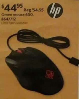 AAFES Black Friday: HP Omen Wired Mouse 600 for $44.95