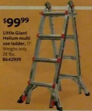 "AAFES Black Friday: Little Giant 17"" Helium Multi Use Ladder for $99.99"