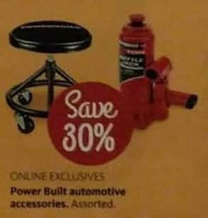 AAFES Black Friday: Assorted Power Built Automotive Accessories - Save 30%