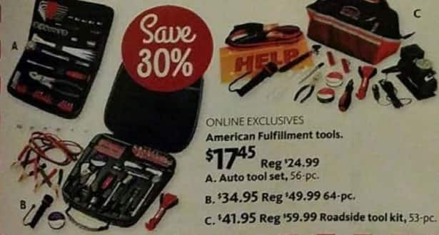 AAFES Black Friday: American Fulfillment Tools 56, 64 or 53-pc. Auto Tool Sets for $17.45